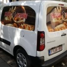 Covering voiture pour une boulangerie